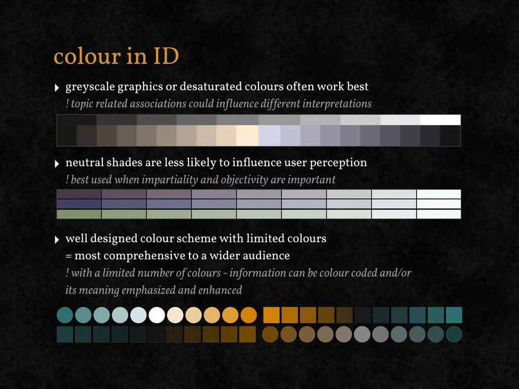 colour in ID ‣ greyscale graphics or desaturate...