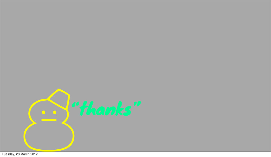 "'""thanks"" Tuesday, 20 March 2012"