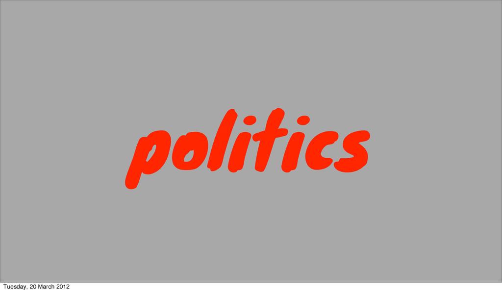 politics Tuesday, 20 March 2012