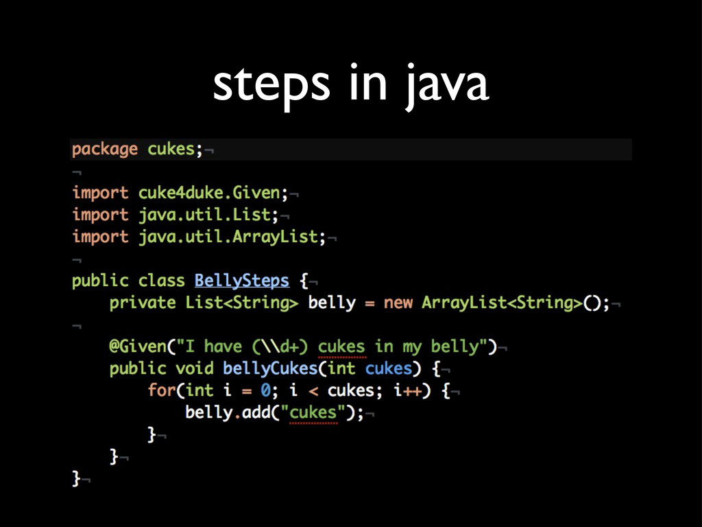 steps in java
