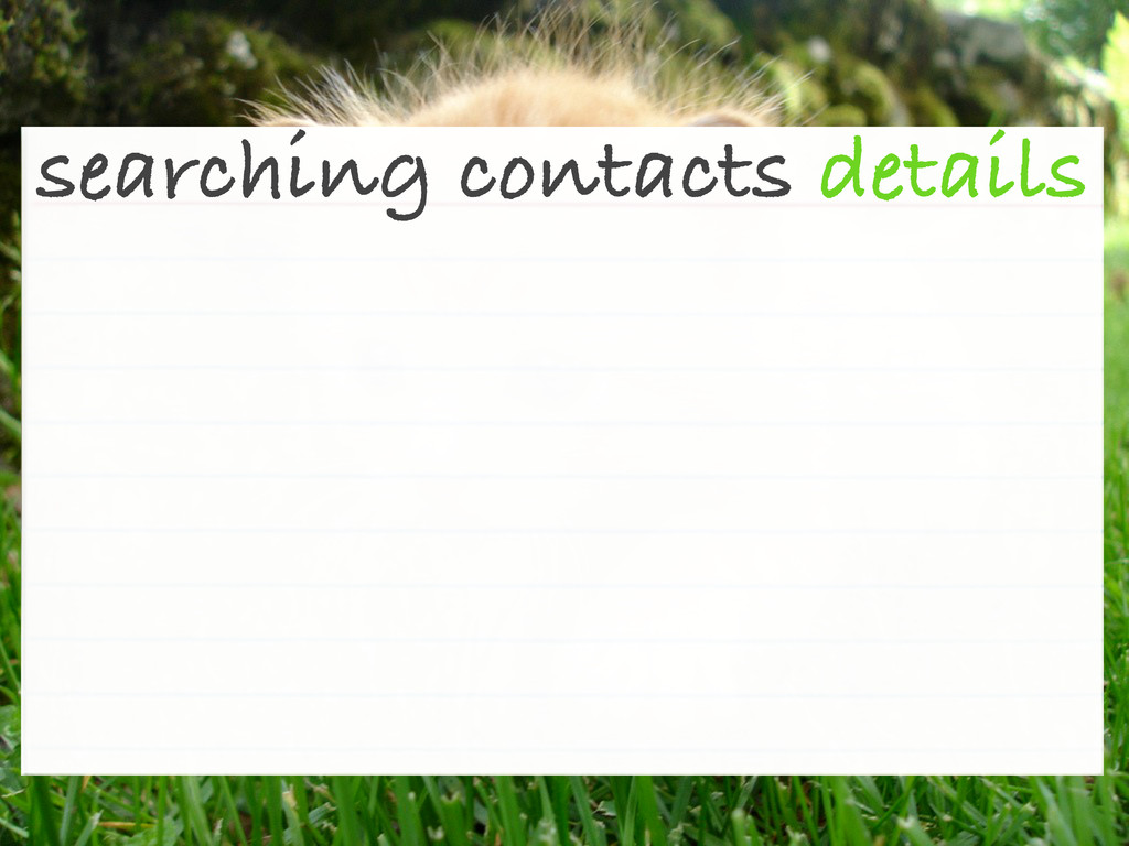 searching contacts details