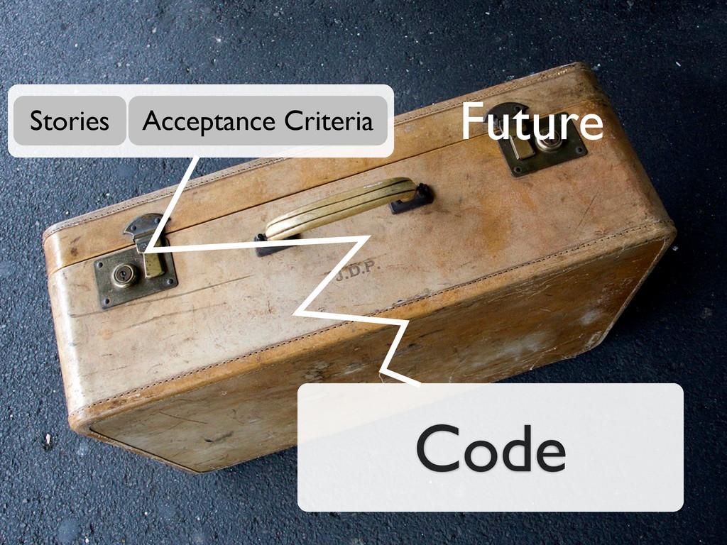 Code Stories Acceptance Criteria Future