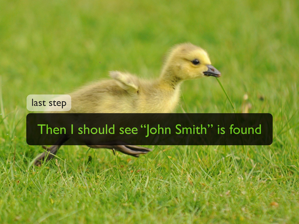 "Then I should see ""John Smith"" is found last st..."
