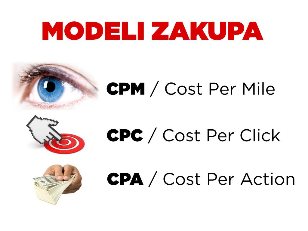MODELI ZAKUPA CPM / Cost Per Mile CPC / Cost Pe...
