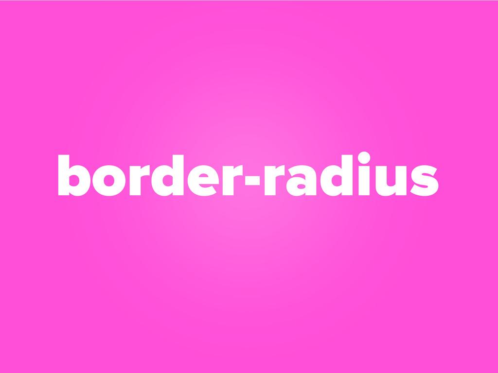border-radius