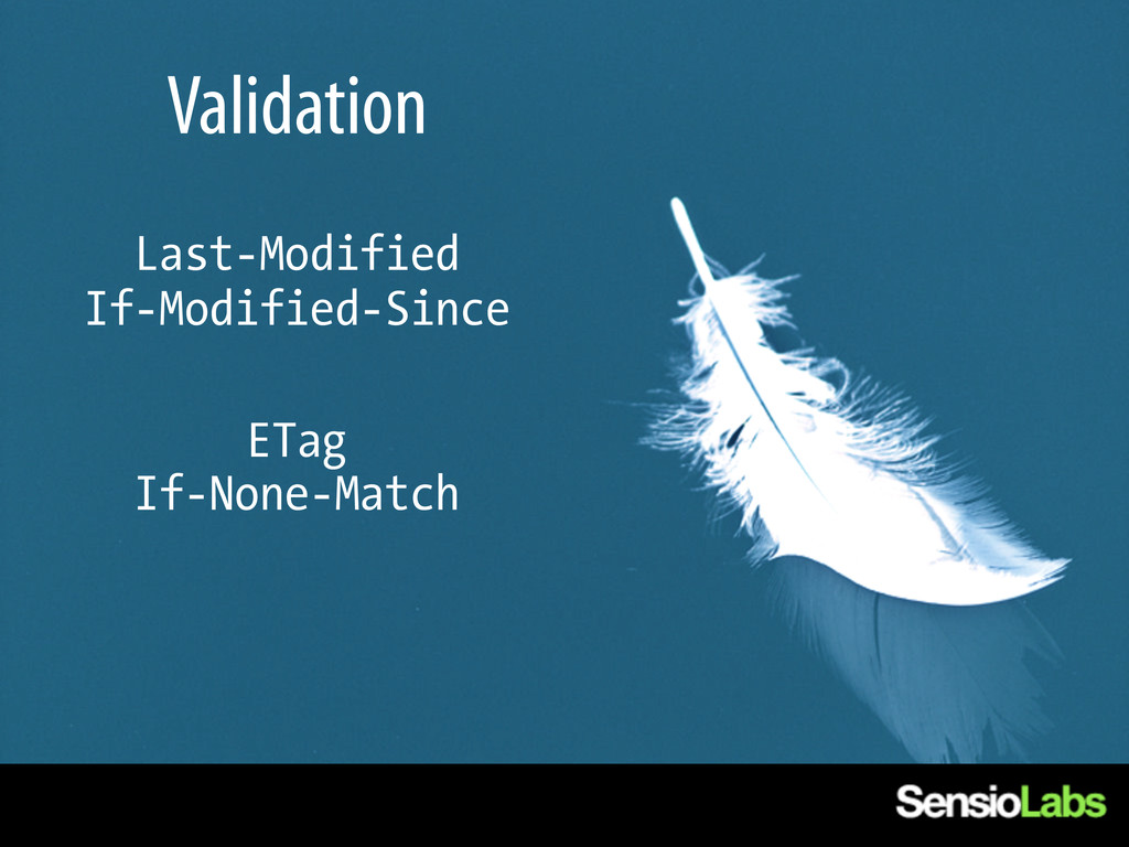 Validation Last-Modified If-Modified-Since ETag...