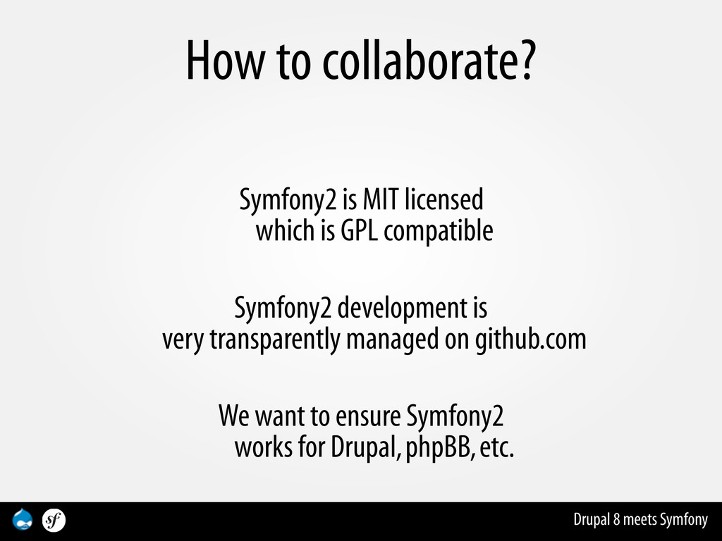 Drupal 8 meets Symfony How to collaborate? Symf...