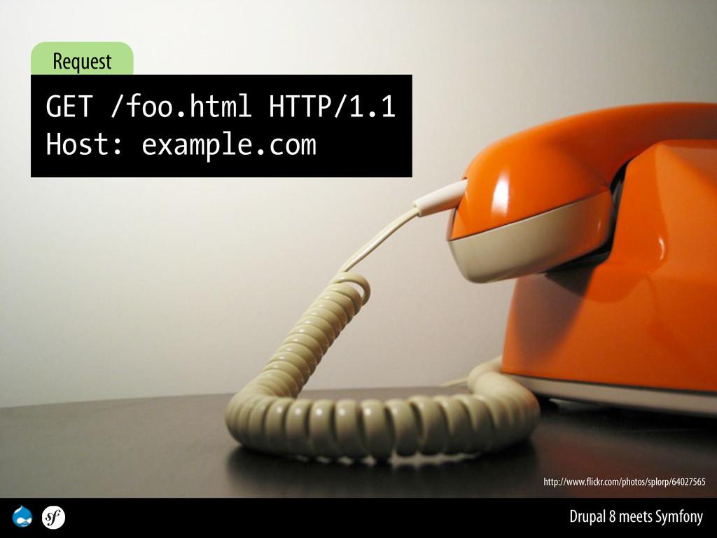 Drupal 8 meets Symfony Request GET /foo.html HT...