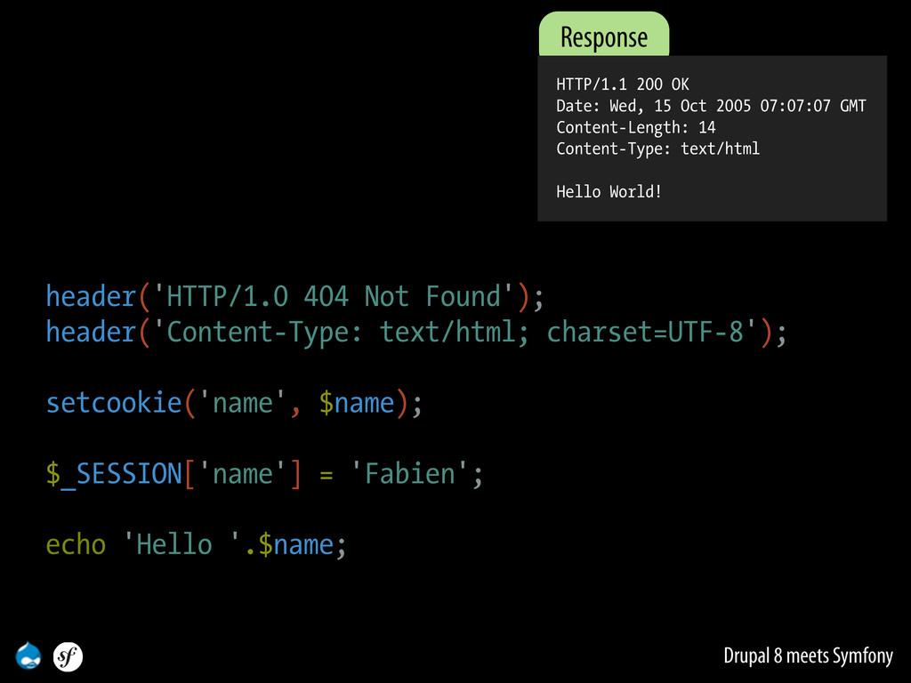 Drupal 8 meets Symfony Response HTTP/1.1 200 OK...