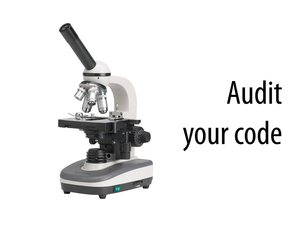 Audit your code