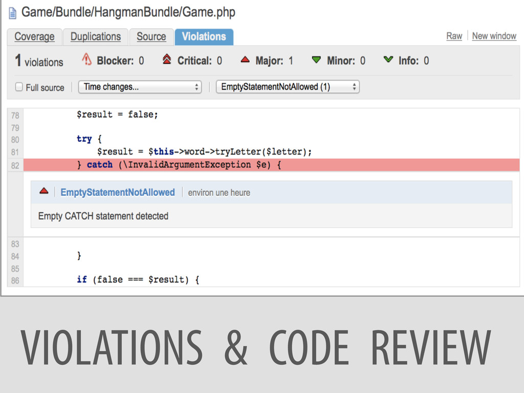 VIOLATIONS & CODE REVIEW