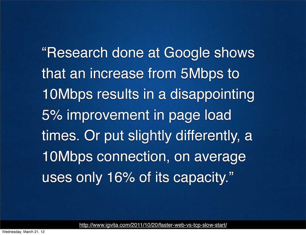 """""""Research done at Google shows that an increase..."""