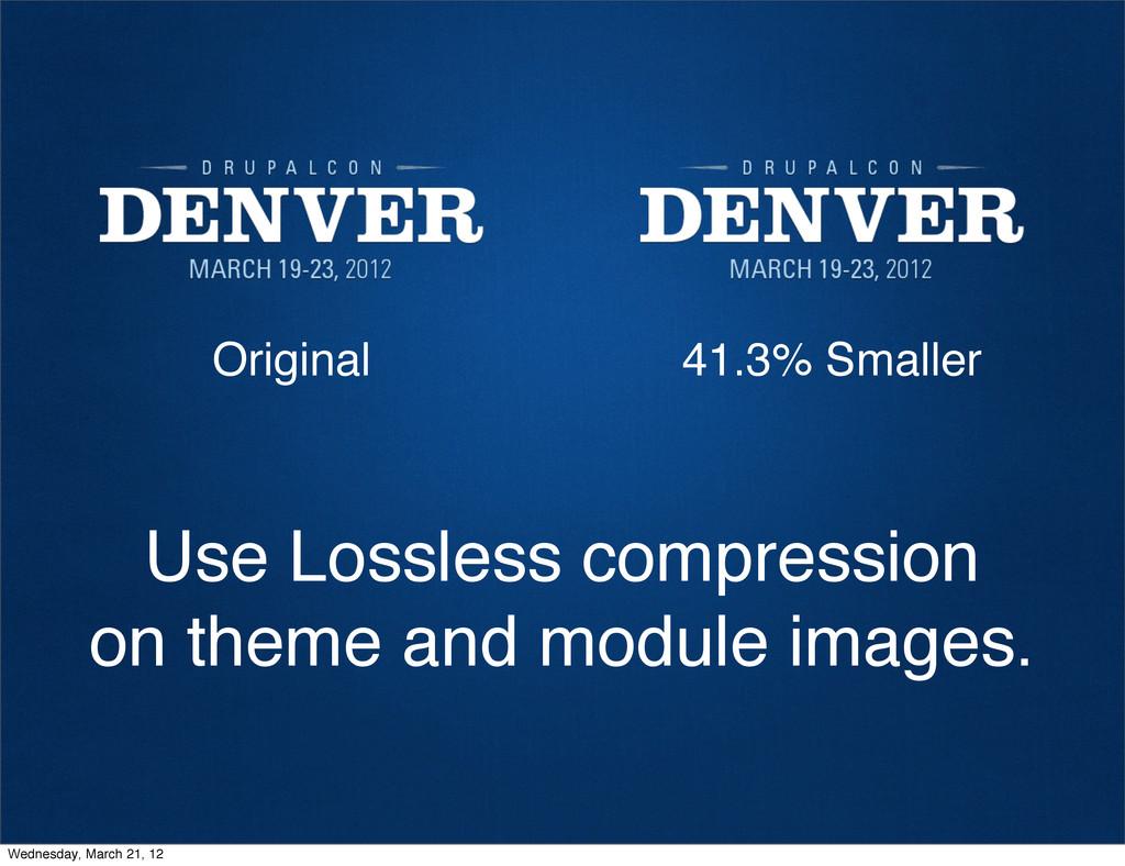 Original 41.3% Smaller Use Lossless compression...