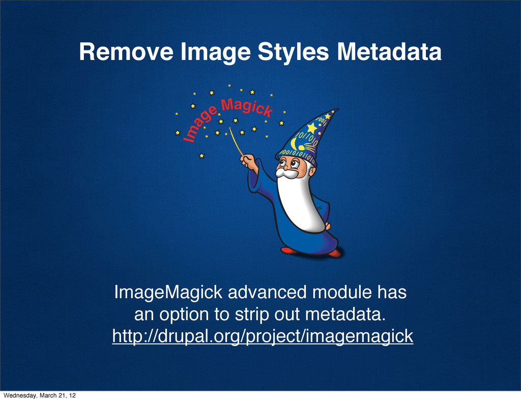 Remove Image Styles Metadata ImageMagick advanc...