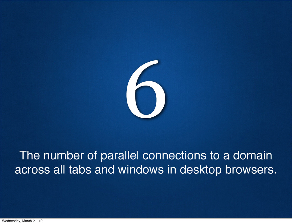 6 The number of parallel connections to a domai...