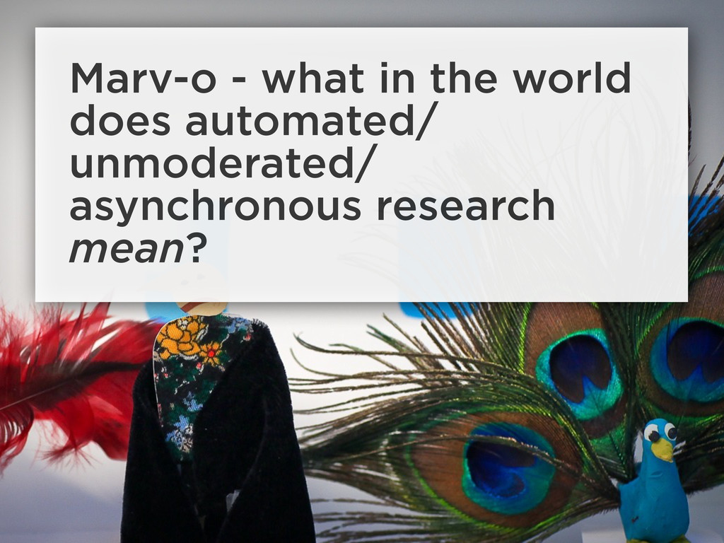 Marv-o - what in the world does automated/ unmo...