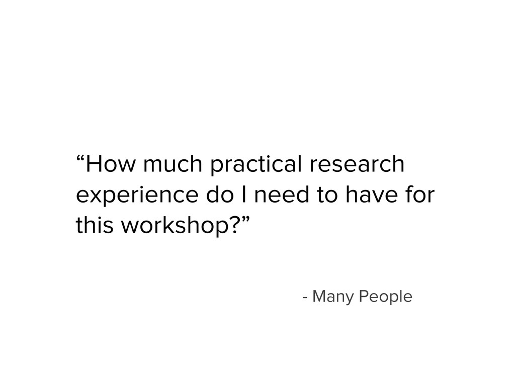 """""""How much practical research experience do I ne..."""
