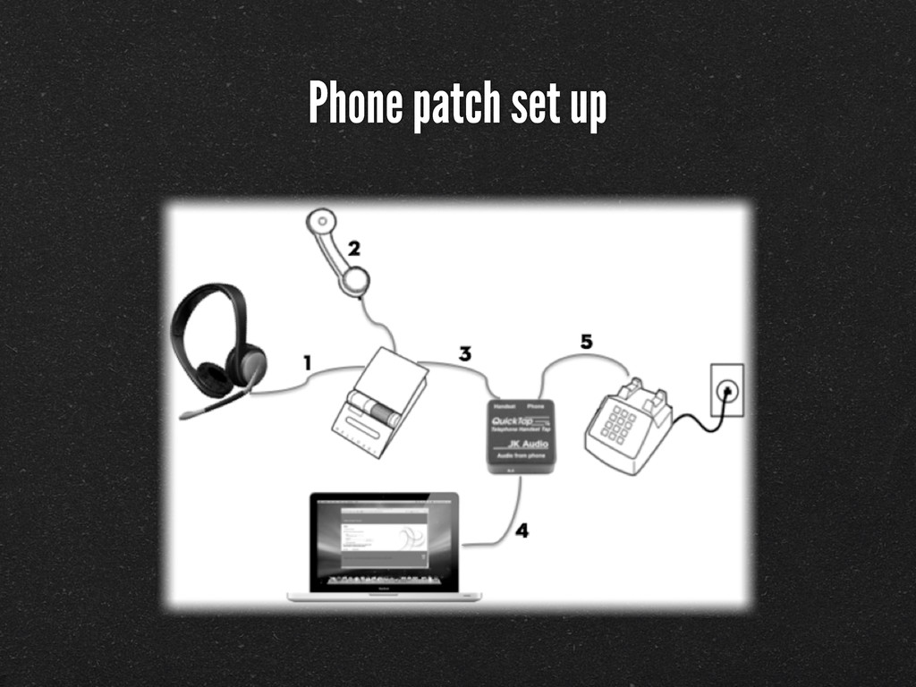 Phone patch set up