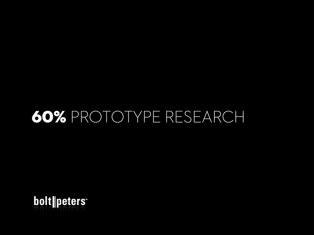 60% PROTOTYPE RESEARCH