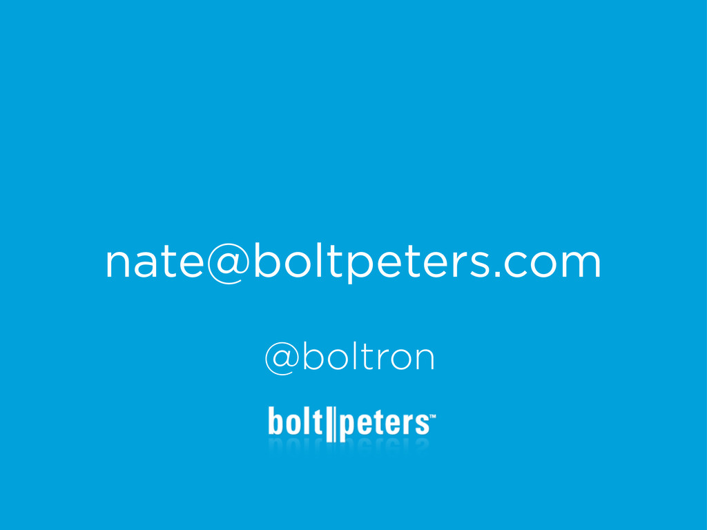 nate@boltpeters.com @boltron
