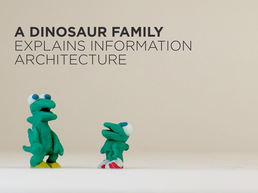 A DINOSAUR FAMILY EXPLAINS INFORMATION ARCHITEC...