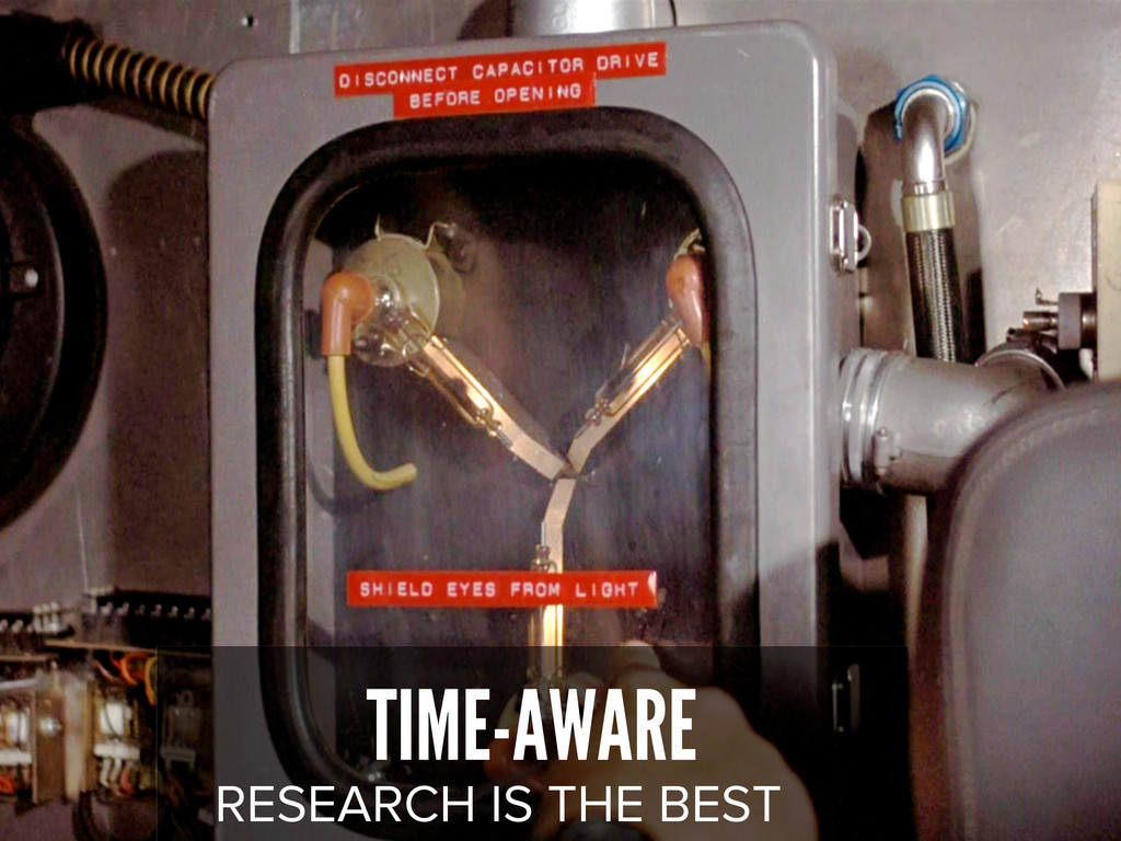 TIME-AWARE RESEARCH IS THE BEST