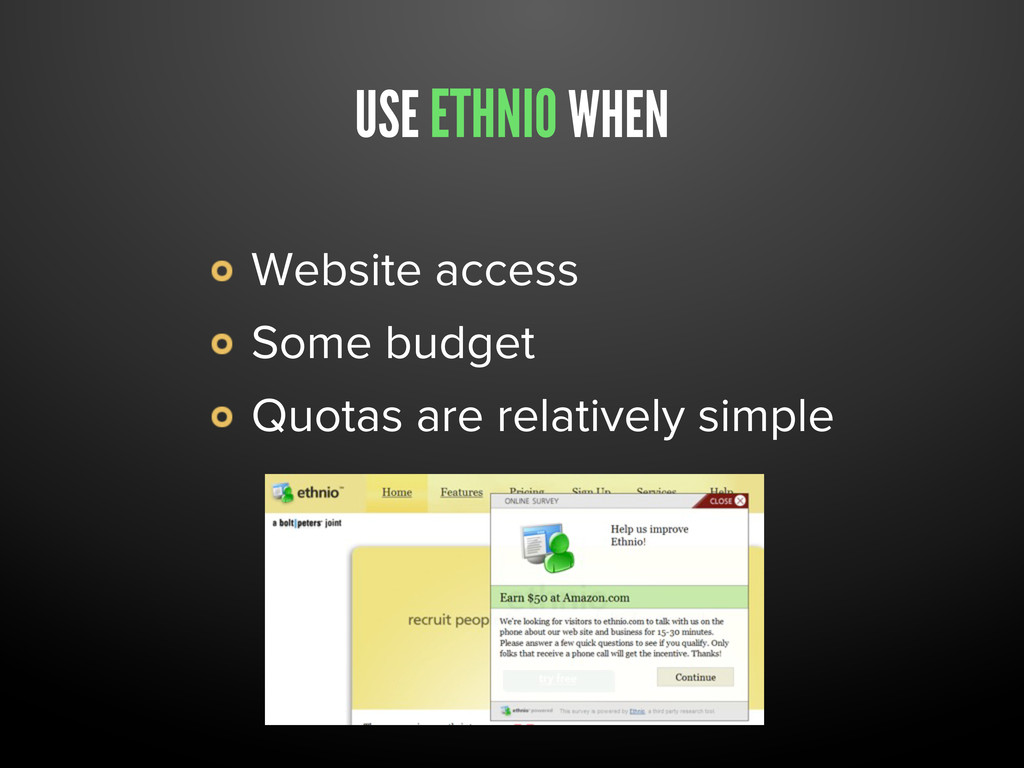 USE ETHNIO WHEN Website access Some budget Quot...