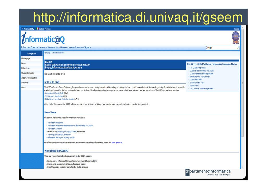 http://informatica.di.univaq.it/gseem
