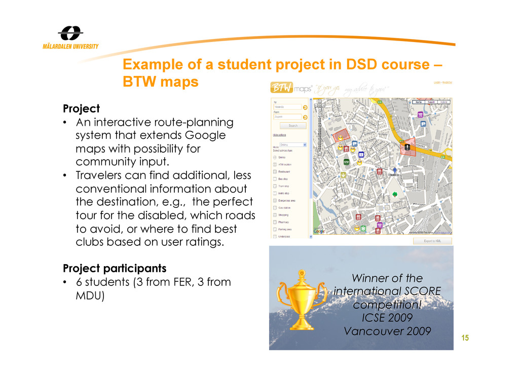 15 Example of a student project in DSD course –...