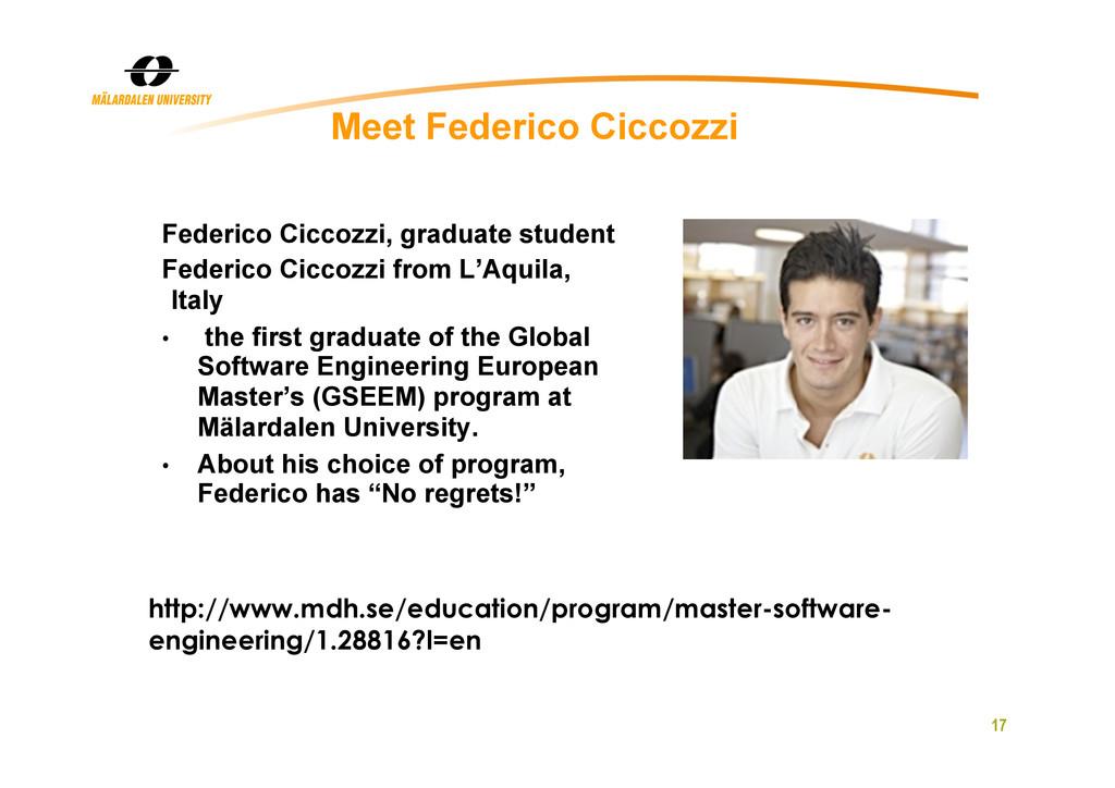 17 Meet Federico Ciccozzi Federico Ciccozzi, gr...