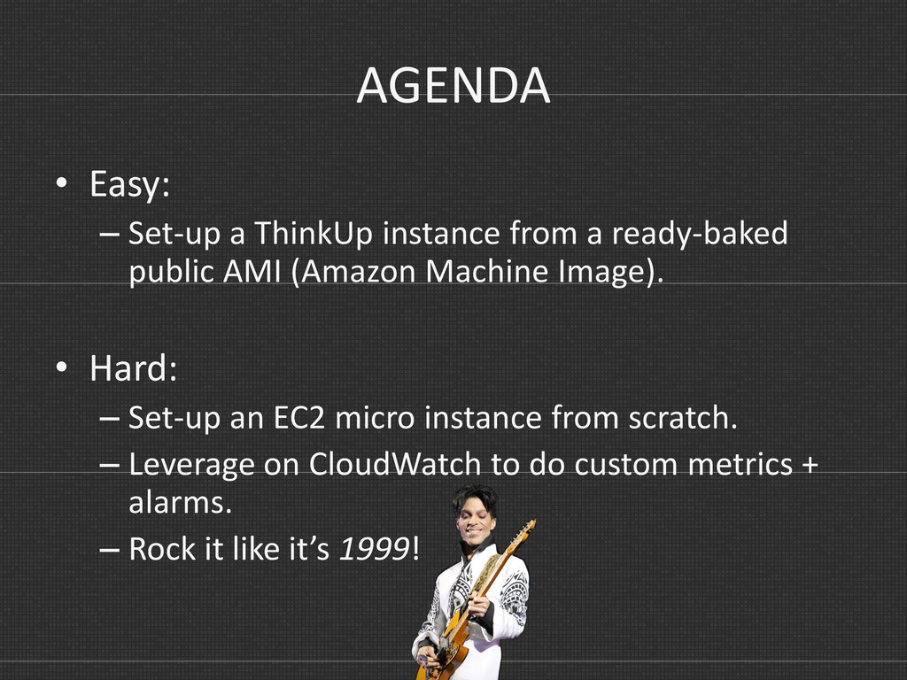 AGENDA • Easy: – Set-up a ThinkUp instance from...