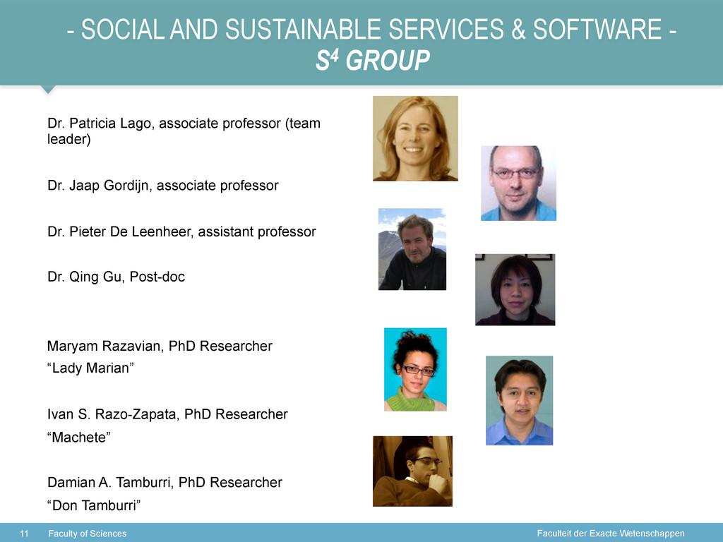 Faculteit der Exacte Wetenschappen - SOCIAL AND...