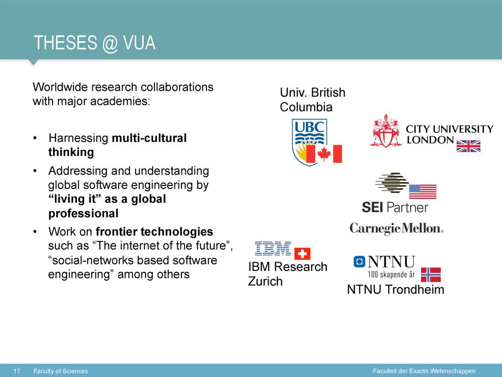 Faculteit der Exacte Wetenschappen THESES @ VUA...