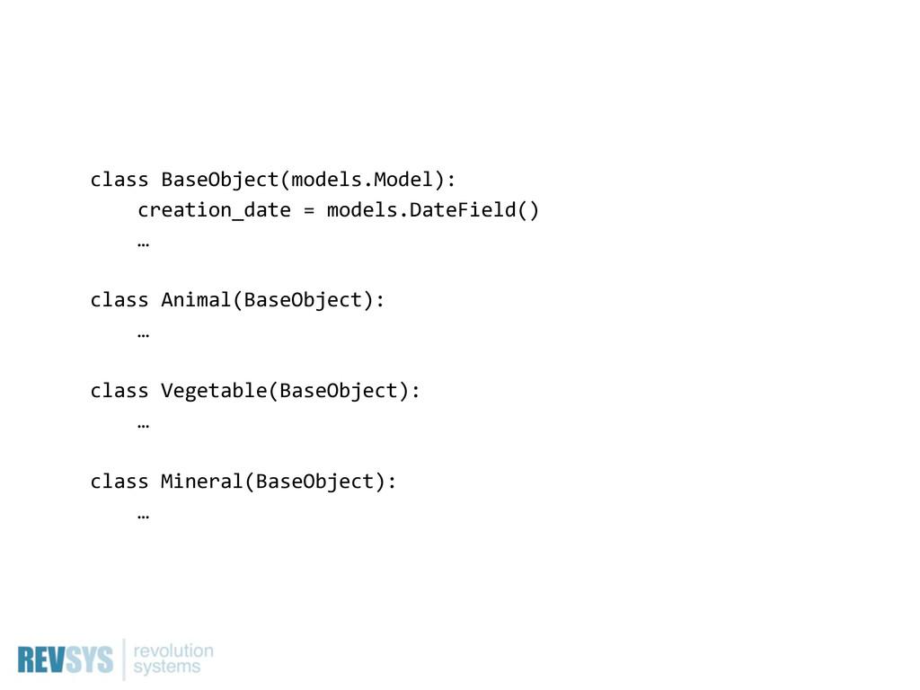 class BaseObject(models.Model):     creati...