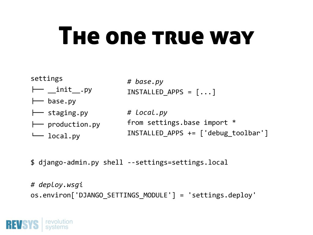 "settings !"""" __init__.py !"""" base.py !"""" sta..."