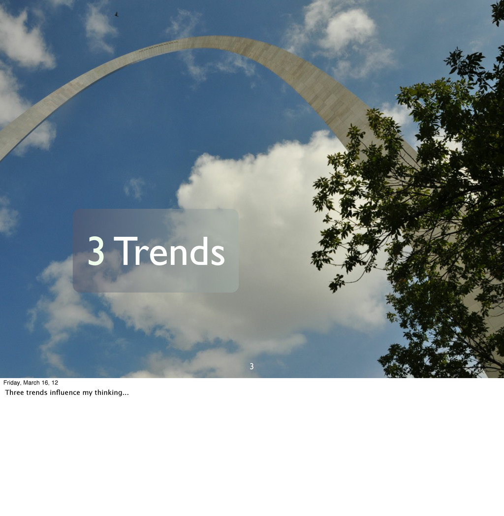 3 3 Trends Friday, March 16, 12 Three trends in...