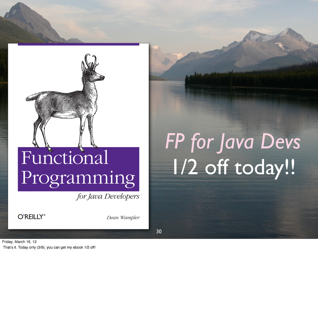 FP for Java Devs 1/2 off today!! 30 Dean Wample...