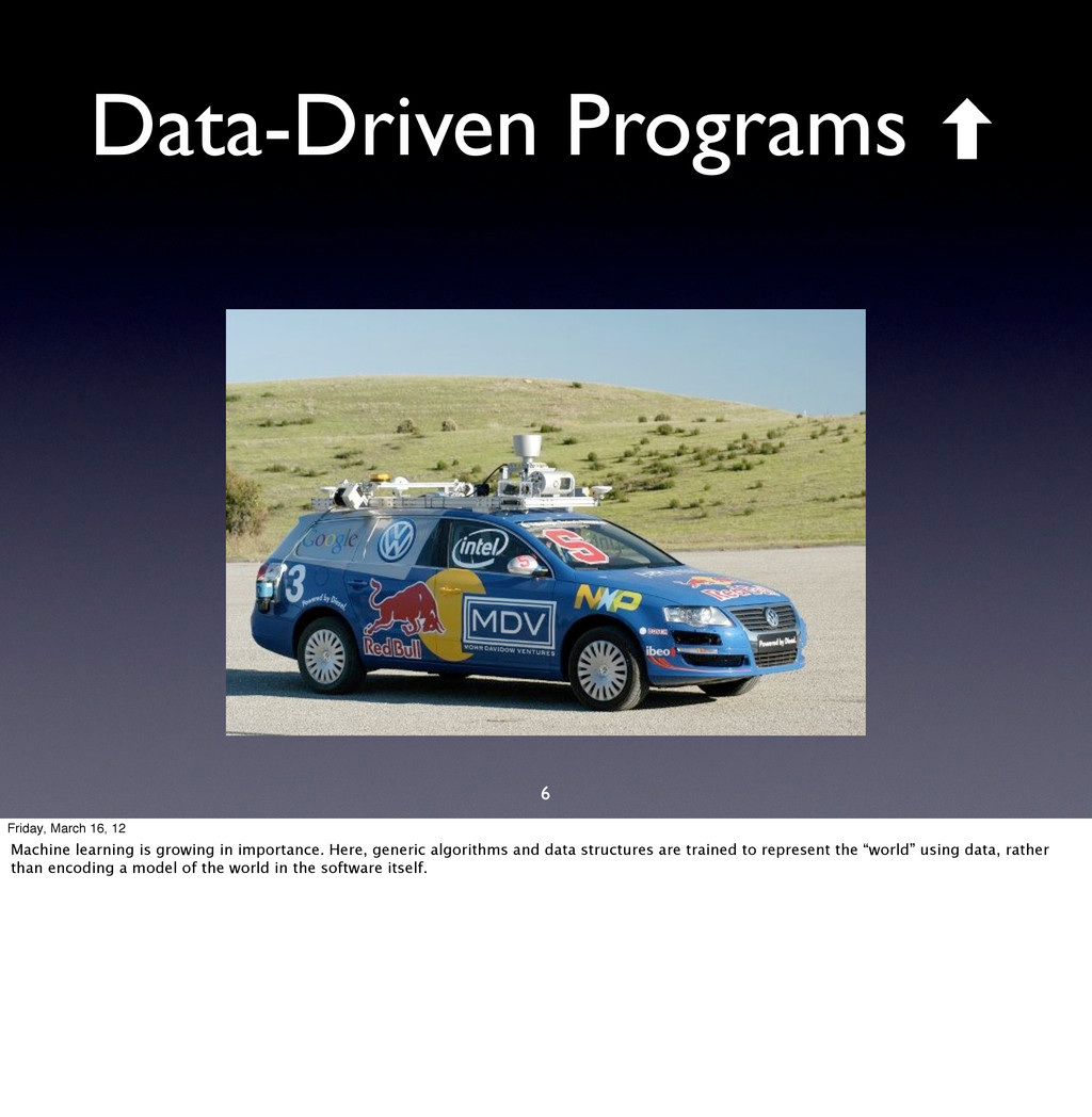 6 Data-Driven Programs ‐ Friday, March 16, 12 M...