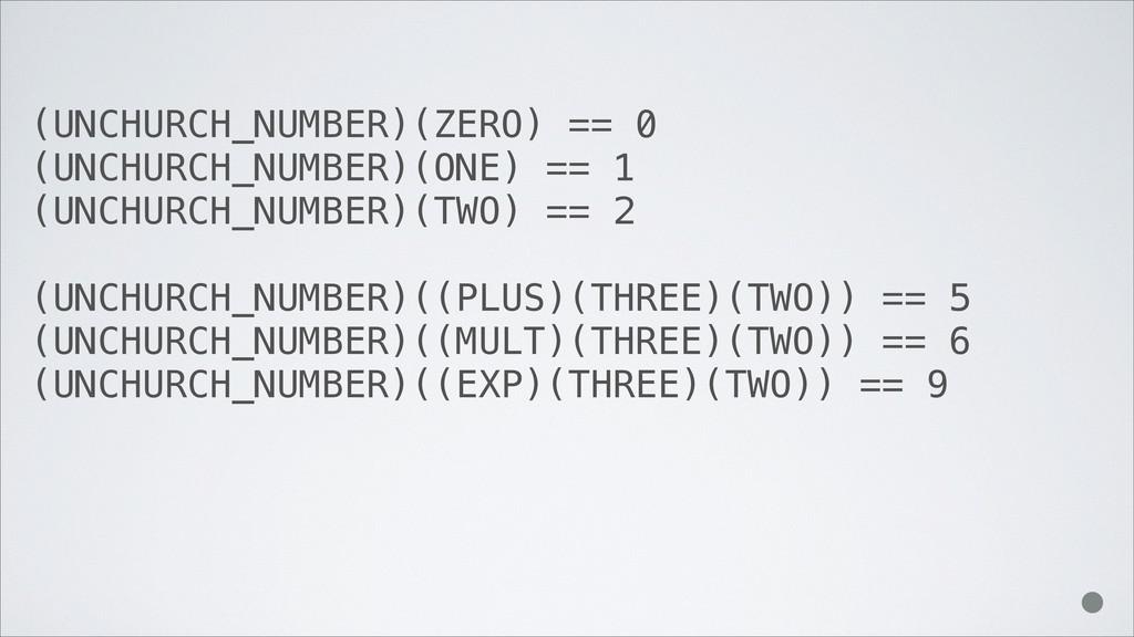 (UNCHURCH_NUMBER)(ZERO) == 0 (UNCHURCH_NUMBER)(...