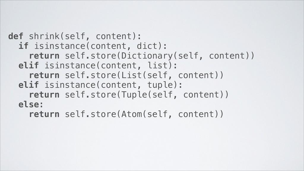 def shrink(self, content): if isinstance(conten...