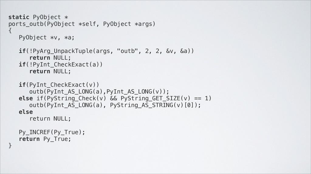 static PyObject * ports_outb(PyObject *self, Py...