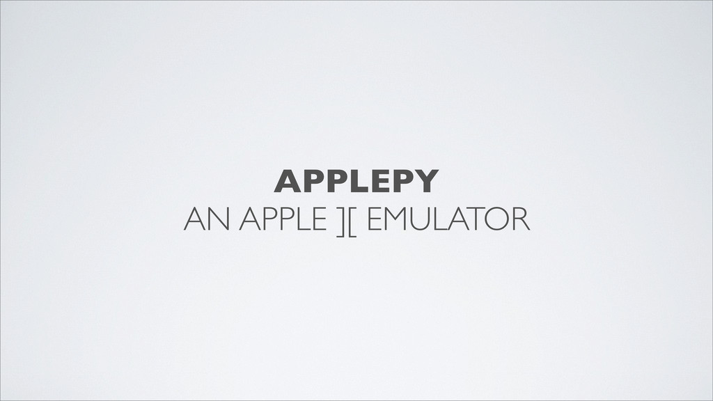 APPLEPY AN APPLE ][ EMULATOR