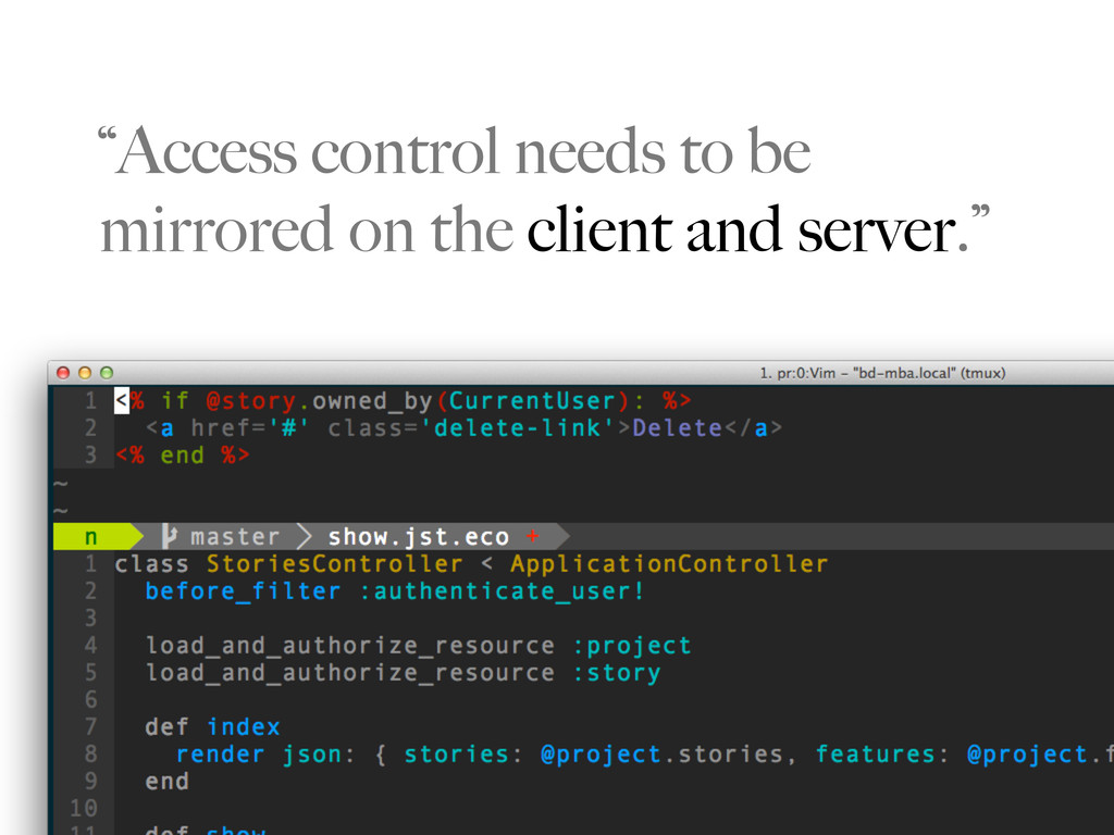 """""""Access control needs to be mirrored on the cli..."""