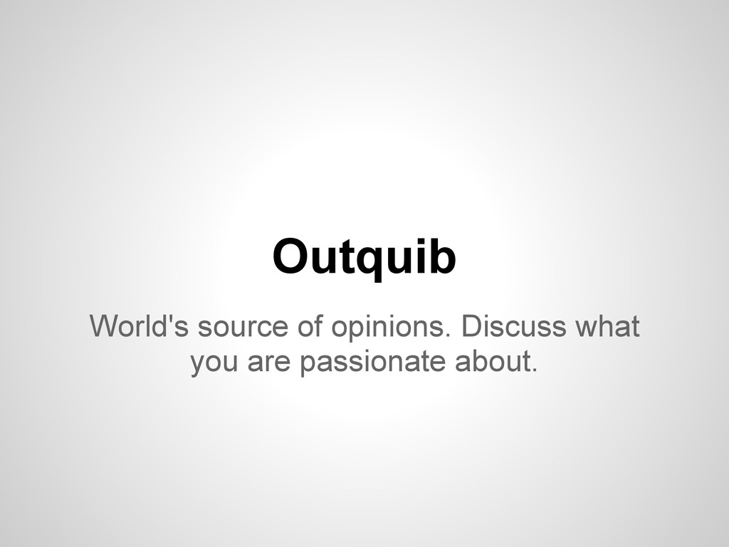 World's source of opinions. Discuss what you ar...
