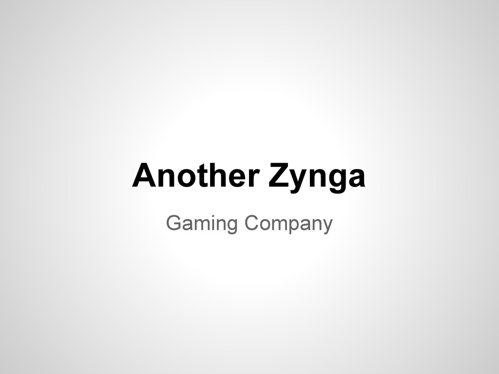 Gaming Company Another Zynga