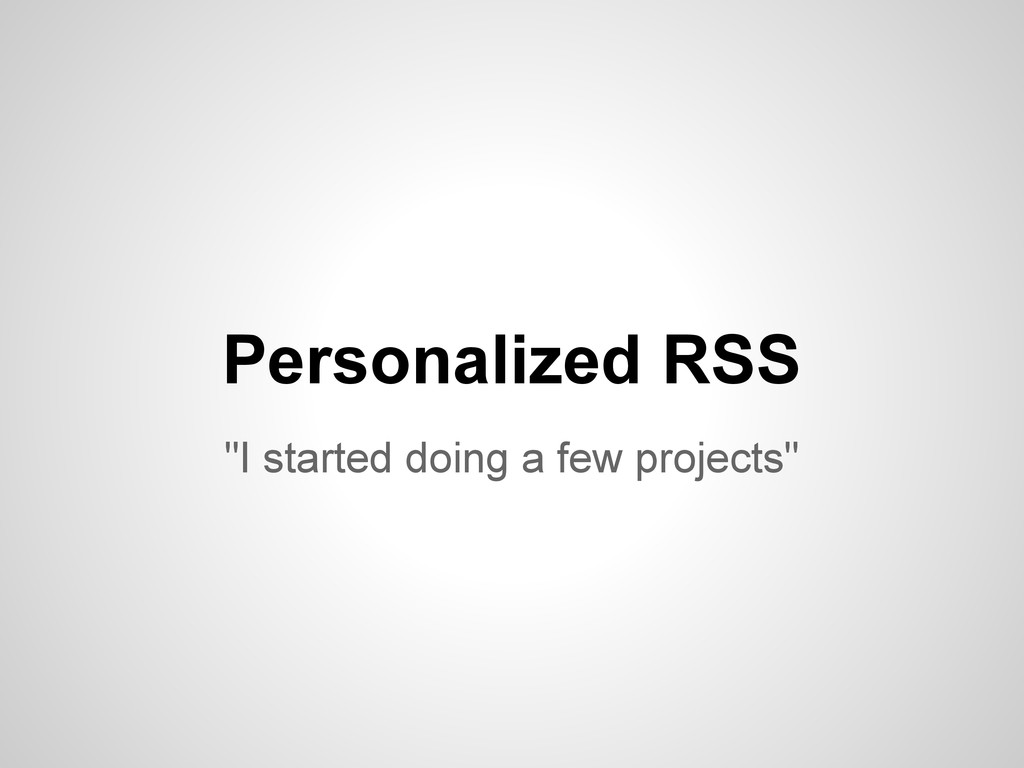 """I started doing a few projects"" Personalized R..."