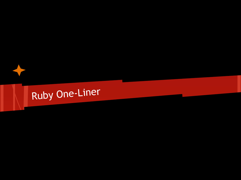 Ruby One-Liner
