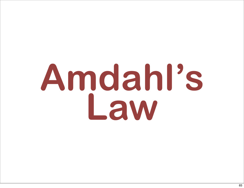 Amdahl's Law 83