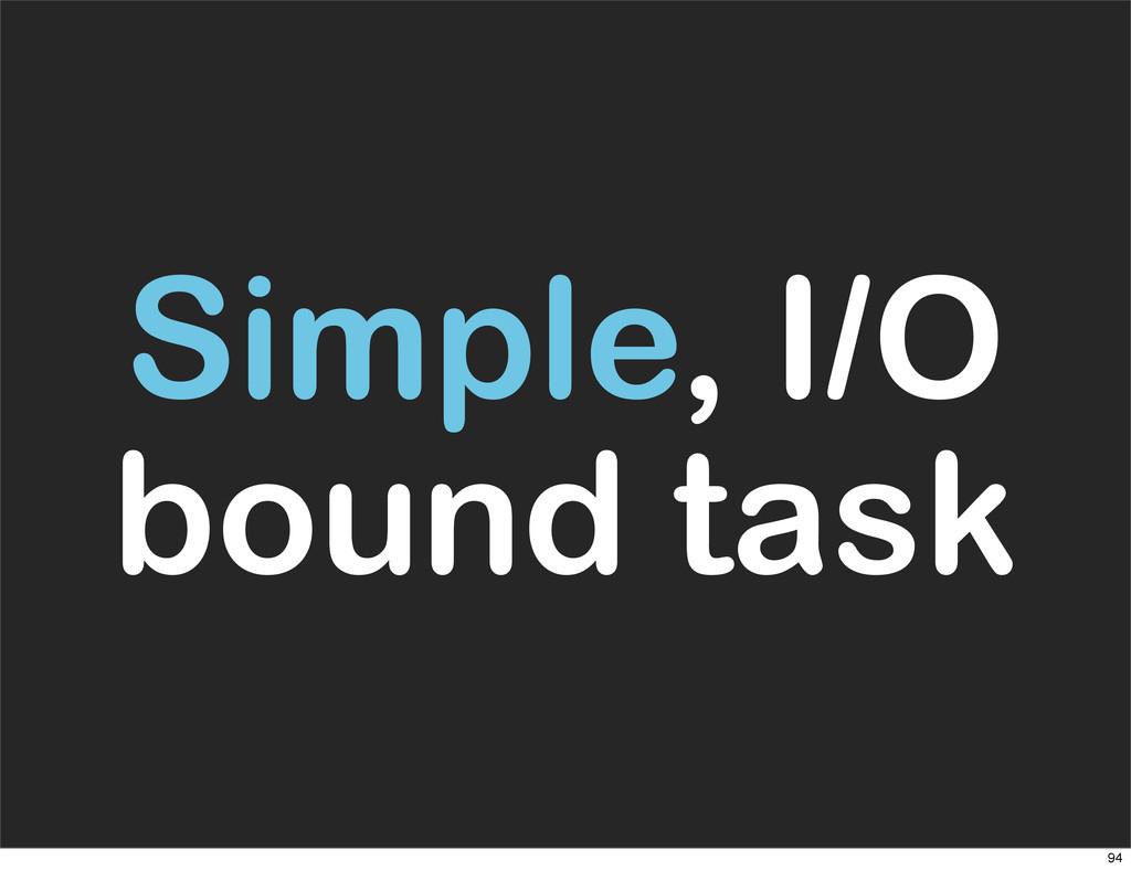 Simple, I/O bound task 94