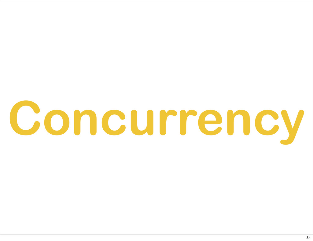 Concurrency 34